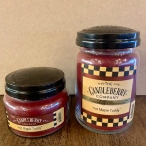 Candleberry Hot Maple Toddy Candle Lg