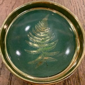 SIL FERN Round Trinket Dish: Forest Green
