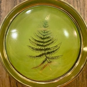 SIL FERN Round Trinket Dish: Lime Green