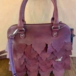 Hi-Di-Hi CM01 Red Wine Leaf Handbag, 24x29x10cm