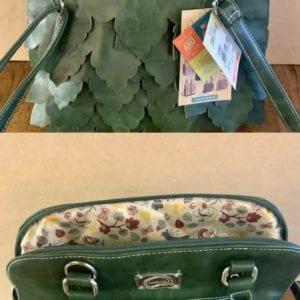 Hi-Di-Hi CM02 Mid-green Leaf Handbag, 24x29x10cm
