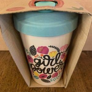 Blue Eyed Sun 'Girl Power' Eco Bamboo Cup