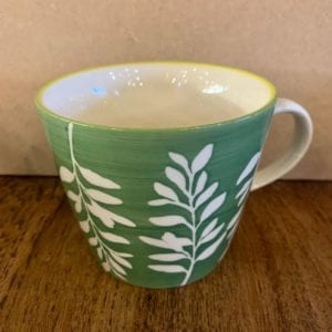 Gisela Graham Green Leaves Mug