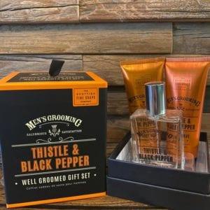 Scottish Fine Soaps Thistle & Black Pepper Well Groomed Gift Set