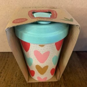 Blue Eyed Sun 'Hearts' Eco Bamboo Cup