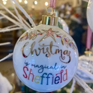 Love Your Nation Sheffield Christmas Bauble, Magical