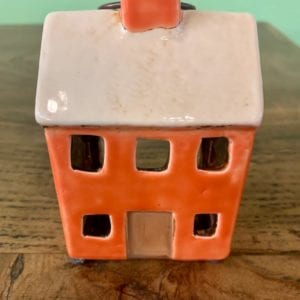 Heaven Sends Ceramic House T-Light Holder (Terracotta)