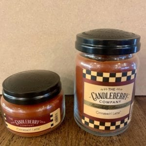 Candleberry Cinnaswirl Latte Candle Lg