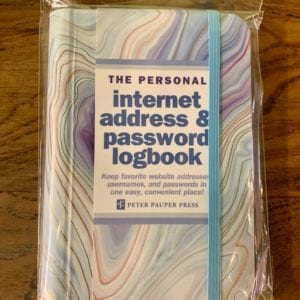 Peter Pauper Press 'Agate' Internet Password Logbook