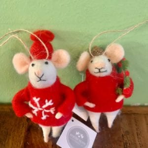Heaven Sends Hanging Wool Mouse Acorn Hat