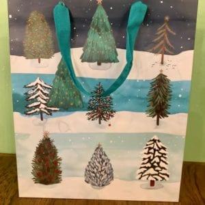 Roger La Borde Winter Forest Gift Bag, Med