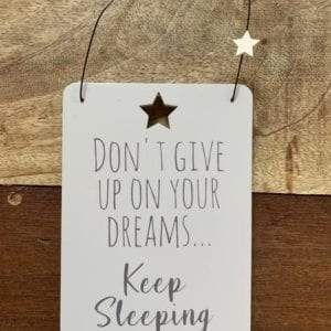 Transomnia 'Keep Sleeping' Sign