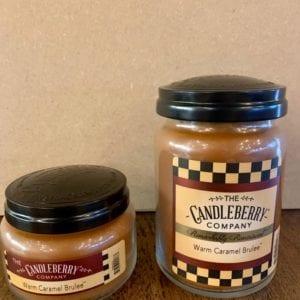 Candleberry Warm Caramel Brulee Candle Lg