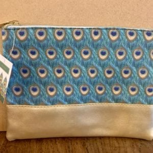 SIL PEACOCK Make Up Bag