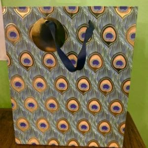 SIL Peacock Gift Bag