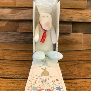 Rufus Baby Rattle Blue, gift boxed