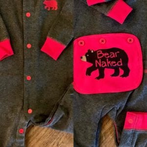 Hatley Baby Suit 3-6 Bear Naked
