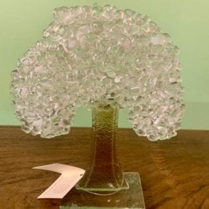 D & J Glassware Fused Glass Tree – Winter