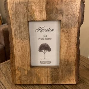 Transomnia Karelia Bark-edged Wooden 6×4 Photo Frame