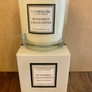 Stoneglow Silver Birch & Black Pepper Candle Tumbler