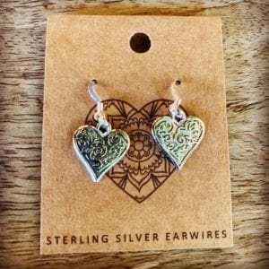 Funky Sprout HEART Earrings