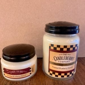 Candleberry Frosted Blueberry Donuts Candle Lg