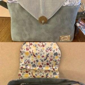 Hi-Di-Hi LK03 Grey Coral Design Handbag, 28x28x12cm