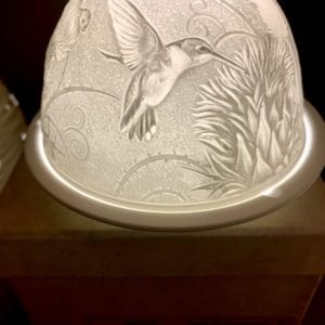 Welink Ceramic Nite Lite Holder: Thistle Humming Bird