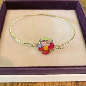 Shrieking Violet  Mixed Flower Bangle