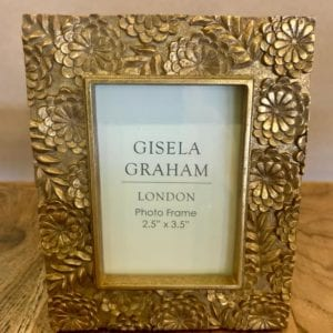 Gisela Graham Gold Floral Frame