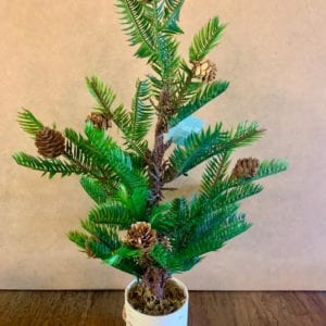 Floral Silk Pinecone Tree