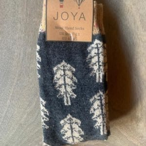 Joya DARK BLUE TREES Wool Blend Men's Socks