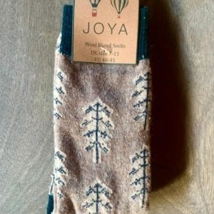 Joya FAWN TREES Wool Blend Men's Socks