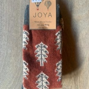 Joya RUST TREES Wool Blend Men's Socks