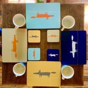 Forma House  'Scion Fox' Cork Backed Coasters X4