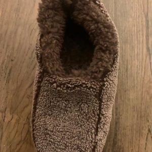 Snoozies Mens Two Tone Slippers, Brown, Large