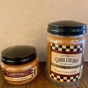 Candleberry Pumpkin Praline Waffles Candle Lg