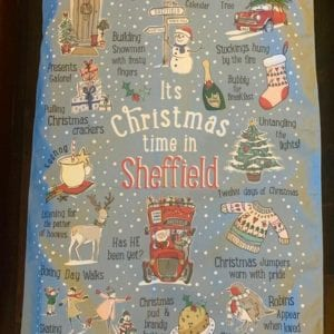 Love Your Nation Sheffield Christmas Tea Towel