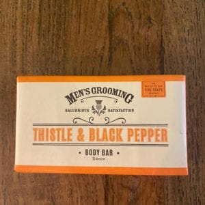 Scottish Fine Soaps Thistle & Black Pepper Body Bar