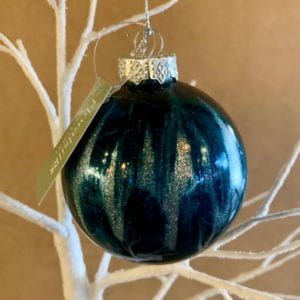 Floral Silk Midnight Blue Bauble