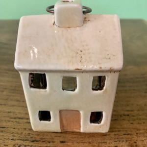 Heaven Sends Ceramic House T-Light Holder (Cream)