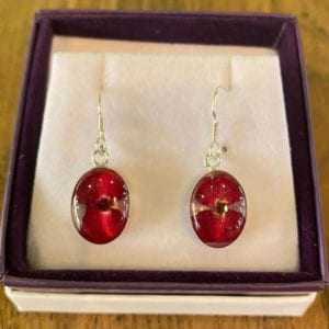 Shrieking Violet Poppy Drop Earrings