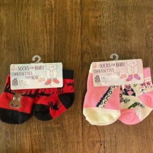 Hatley Baby Socks – Moose on Red