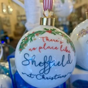 Love Your Nation Sheffield Christmas Bauble, Red