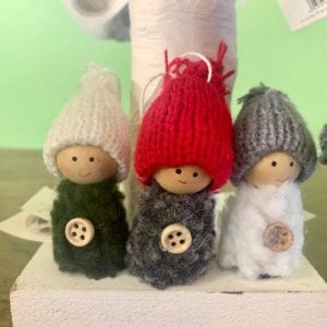 Heaven Sends Hanging Woolly Figure Grey Hat