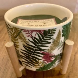 SIL FERN Scented Candle Pot on Stand