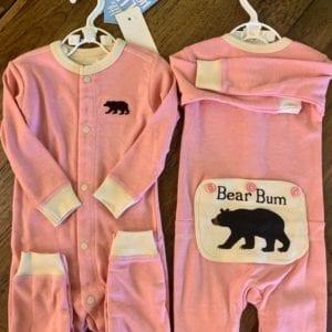 Hatley Baby Suit 6-12 Bear Bum Pink
