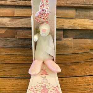 Rufus Baby Rattle Pink, gift boxed