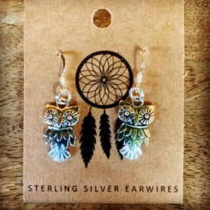 Funky Sprout OWL Earrings