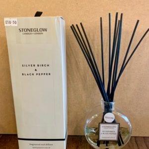Stoneglow Silver Birch & Black Pepper Room Diffuser